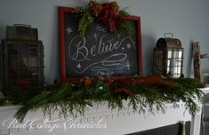 I am always looking for inexpensive ways to decorate our home for Christmas.  This year was no exception!  #HomeForChristmas I was looking to make a large sign…