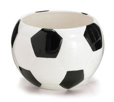 """Soccer Ceramic Sports Planter - 4"""""""" x 3.75"""""""""""
