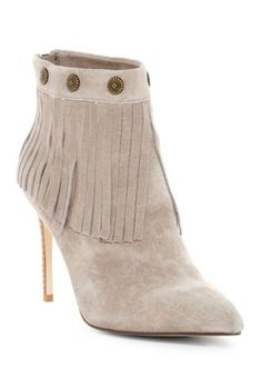 Suede Fringe Bootie by Very Volatile on Fringe Booties, Nordstrom Rack, Peep Toe, Booty, Shoes, Products, Fashion, Moda, Swag