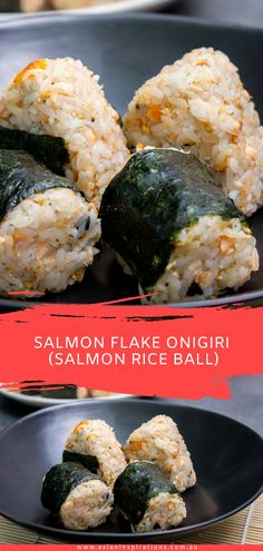 An easy recipe for Japanese rice balls with salmon. Get this Salmon Flake Onigiri recipe. Recipe by Chef Kinsan as seen on My Market Kitchen. Bento Recipes, Rice Recipes, Indian Food Recipes, Asian Recipes, Cooking Recipes, Healthy Recipes, Easy Japanese Recipes, Japanese Dishes, Recipes