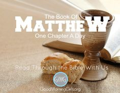Do you want to draw closer to Jesus and know Him more? Come read one chapter of Matthew a day with us as we prepare our hearts for Good Friday and Easter Sunday. The new session begins March 2nd and ends April 8th!