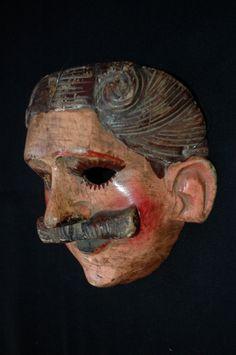 Vint Guatemalan Dance Mask Cristiano 2B Mayan Fine Art Baile de Cristianos | eBay