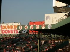 Fenway Park retired numbers in 2003 before seating built above them.