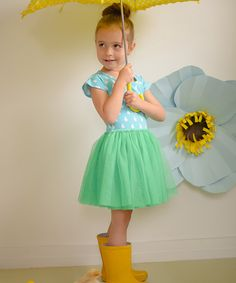 Blue & Green Rain Drop Tutu Dress - Infant by Taylor Joelle Designs #zulily #zulilyfinds