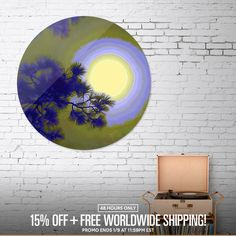 Discover «Harest Moon», Limited Edition Disk Print by Glink - From $65 - Curioos