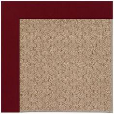 Capel Zoe Grassy Mountain Machine Tufted Wine/Brown Area Rug Rug Size: Square 10'