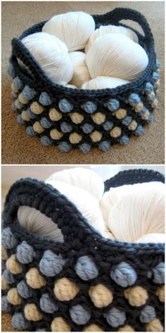 I am going to show you some crochet basket patterns which will increase your home décor!Honeycomb Pop Basket