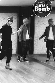 Haha, Taehyung in the Just One Day dance practice video, appeal version.  Love that someone put the words here.  :D