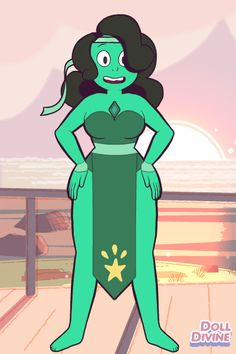 My first gemsona!!! XD Name:Emerald   Pronouns:She/Her   Gem location:chest   Weapon:sickle   Abilities:super strength and earth manipulation   Fusion dance style:Greek Cordax/Belly Dance Tsifteteli  Origin:Homeworld  Allegiance:Gem rebellion    Personality traits:sociable, emotionally  supportive, uncritical, easy going, careful, hard working, cheerful, competent and stubborn  Likes:socialising, gardening, large gardens, singing, dancing and practical work  Dislikes:being rushed and poverty