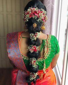 #SouthIndianBride #TheBride #Wedding #WeddingMoment #IndianBride #IndianGroom #SouthIndianWedding #Instagram #InstaDaily #InstaLove #WeddingInspiration #BridalInspiration #WeddingWebsite #IndianWeddingBlog #SouthIndianWeddingBlog #insta #Ezwed #EzwedBride #BridalBlouses #BridalGuide #weddingdecor #bridalhairstyle #bridaljewelry #bridesofinstagram #weddingphotography #BridalTribe #BridalForum #BridalInspo #Inspo South Indian Wedding Hairstyles, Bridal Hairstyle Indian Wedding, Indian Bridal Makeup, Indian Hairstyles, Braided Hairstyles, Wedding Day Makeup, Bridal Makeup Looks, Hairstyles For Gowns, Black Women Hairstyles
