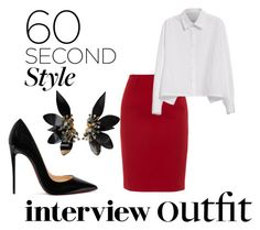 """I'm late to the interview"" by livia-souza-1 on Polyvore featuring moda, Paule Ka, Y's by Yohji Yamamoto, Christian Louboutin, Marni, jobinterview e 60secondstyle"