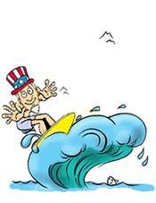 Surf with Uncle Sam