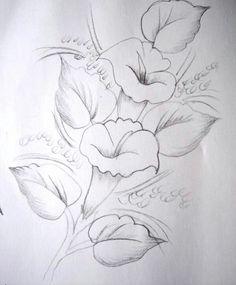 포크아트도안 Brown Things brown color on teeth Painting Patterns, Fabric Painting, Painting & Drawing, Embroidery Patterns, Hand Embroidery, Pencil Drawings, Art Drawings, Paint Designs, Doodle Art