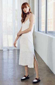 Main Image - J.O.A. Tie Waist Midi Dress