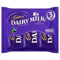 Cadbury Dairy Milk Chocolate Bar 3 Pack 117g Cadbury Dairy Milk Chocolate, Chocolate Box, Candy, Bar, Food, Essen, Meals, Sweets, Candy Bars