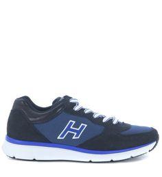 HOGAN Sneaker Hogan H254 Traditional 20.15 In Camoscio Blu Scuro. #hogan #shoes #sneakers