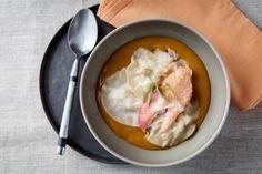 Raviole de homard à l'estragon et citron confit vapeur de citronnelle, les recettes de nos chefs