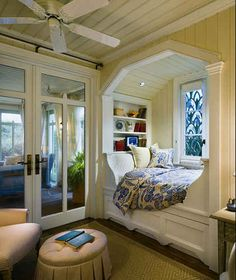 And this Southern-style nook. | 22 Things That Belong In Every Bookworm's Dream Home! I want them!