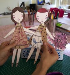 darling paperdolls to buy - cute idea!
