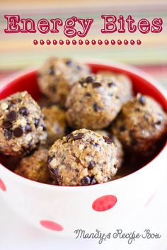 Energy Bites. These no-bake treats are super tasty and super good for you!
