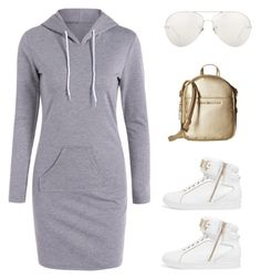 """sweatshirt dress"" by im-karla-with-a-k ❤ liked on Polyvore featuring Just Cavalli and Linda Farrow"