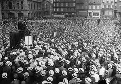 Alexander Berkman Speaks to IWW Rally Original caption: 7/11/1914-New York, New York- International Workers of the World meeting in Union Square.
