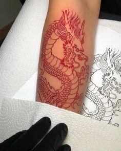 Dragon Tattoo Forearm, Dragon Tattoo Back, Small Dragon Tattoos, Dragon Tattoo For Women, Dragon Sleeve Tattoos, Japanese Dragon Tattoos, Dragon Tattoo Designs, Forearm Tattoos, Dragon Tattoo Wrapped Around Arm