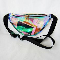 """Universe of goods - Buy """"WONZOM New Holographic Fanny Pack Laser Waist Packs Heuptas Hip Bag Women's Waistband Banana Bags Waist bag Unisex bolso cintura"""" for only USD. Money Belt, Bling, Street Ware, Bum Bag, Waist Pack, Womens Purses, Cute Bags, Laser, Women's Handbags"""