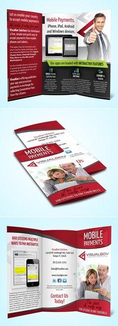 brochure design for VisualGov Solutions by Iulia Tatar