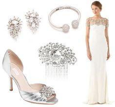 LoveWeddings.pl | Blog Ślubny Stylowe inspiracje na ślub, dekoracje, suknie, fotografia, moda ślubna: Srebro i kryształy - dodatki, inspiracje