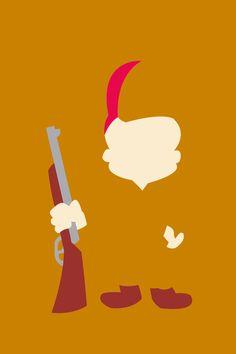Looney Tunes: Elmer Fudd by TracingHorses Childhood Characters, Cartoon Characters, Cartoon Network Tv, Pixar Poster, Elmer Fudd, Best Cartoons Ever, Looney Tunes Cartoons, Minimalist Artwork, Saturday Morning Cartoons
