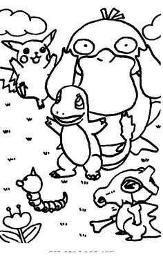 Pokemon Coloring Page 12 Pages