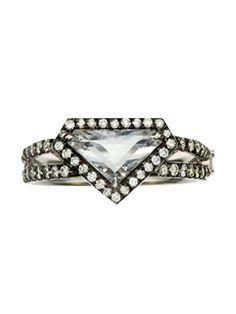 Rose Cut Diamond Shield Ring, Jemma Wynne