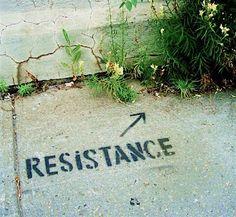 Street art – Resistance. At Van Horne Avenue, Montreal, Canada