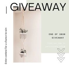 As the end of the year approaches, we felt like giving back our nicest bundle as our way to say thank you for all your support. This will include our LAYLA + RUBY planters in white or black and a macrame plant hanger. ⠀ To enter you must simply: 1. Follow @avila.wade 2. Like this post 3. Tag 3 friends in the comment 4. Share this post in your story ⠀ Contest will end in 7 days at 12:00pm MT. This giveaway is in no way sponsored, endorsed or administered by, or associated with, Instagram. 3 Friends, Invite Your Friends, Big News, Group Boards, Concrete Planters, Retail Shop, Plant Hanger, House Plants, Giveaway