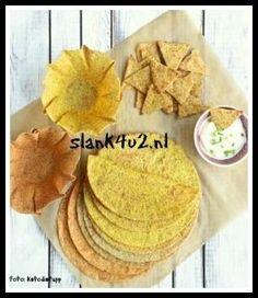 Koolhydraatarme Mexicaanse Tortilla's, Tortilla bakjes, Taco Schelpen & Nacho's – Slank4U2