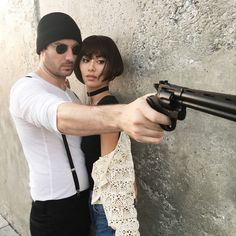 When one of your favorite movies makes for the perfect Halloween costume! Chris as Leon and me as Mathilda from The Professional.
