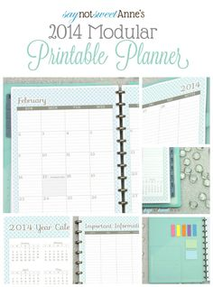 Amazing Printable Planner! Oct '13 - Dec '14 with tons of choices! Meal planning, lesson planning, kid sport tracking etc!   from saynotswee...