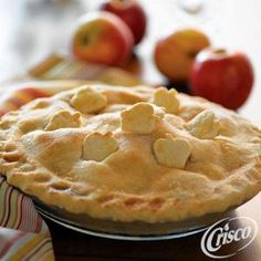 Pecan Toffee Apple Pie, using Crisco® Baking Sticks All-Vegetable Shortening. Makes 8 servings ready in 2 hours 20 minutes.