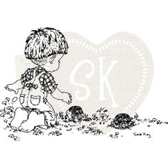 New Stampavie KITTY ON THE SWING Clear Stamps Girl Cat Kitty Swing Friends Happy