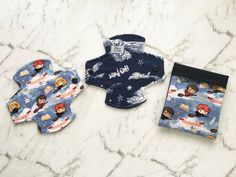 Set of Reversible cloth panty liners 6 inch reusable washable menstrual pad / sanitary napkin / Double Pocket Pad Wrapper / Harry Potter Reusable Menstrual Pads, Mama Cloth, Sanitary Napkin, Cloth Pads, Daily Wear, 6 Inches, Scarlet, Flannel, Core