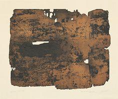 "Pierre Soulages (Born 1919 Rodez) ""Eau-forte XVII"" Farbaquatintaradierung 1961 56.5 x 75.3 cm Pr. 46 x 57.5 cm"