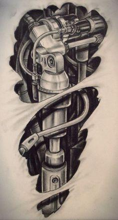 biomech tattoo design to be tattooed next week Bild Tattoos, Leg Tattoos, Body Art Tattoos, Sleeve Tattoos, Cute Tattoos, Lily Tattoo Design, Tattoo Design Drawings, Tattoo Sketches, Tattoo Designs