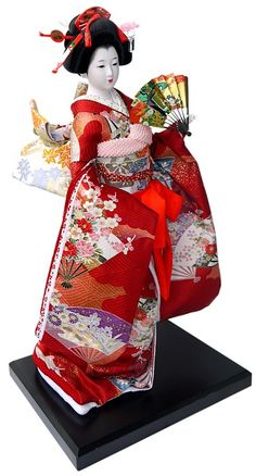 Japanese Traditional Dolls | Japanese doll in beautifull kimono. Japanese Dolls Collection. The ...