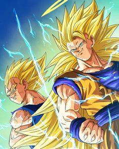 Majin Vegeta e Goku (Super Saiyajin - Majin Vegeta e Goku (Super Saiyajin - Poster Marvel, Poster Superman, Dragon Ball Z, Majin Boo Kid, Fan Art, Goku E Vegeta, Goku Vs, Son Goku, Manga Dragon