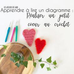 Comment lire un diagramme au crochet - Toutes les explications pour réaliser un petit coeur (tuto)