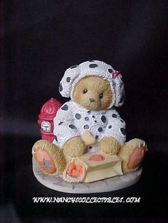 "Cherished Teddies ""Andy - You Have A Special Place In My Heart"". 1996,Priscilla Hillman, Reg. Number 6RS/801, 176265"".  It measures 3"" tall; 3"" wide."