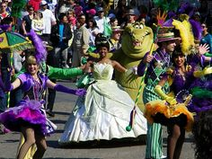 Princess Tiana parties at Disneyland California's Bayou Bash