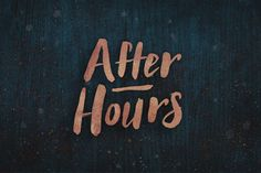After Hours Font by BLKBK