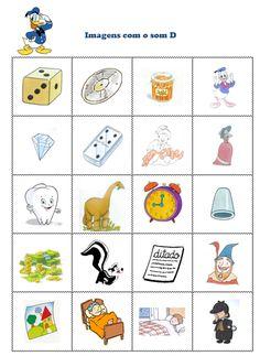 Fichas com imagens com o fonema /d/ em posição inicial e medial de palavra! Nem todos temos tempo e ficam aqui já algumas compilações feitas...